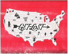 """""""Get Lost"""" Art Print by Landon Sheely on Society6."""