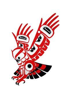 Screch Owl-Prints - Glen Rabena, Northwest Coast Native Artist