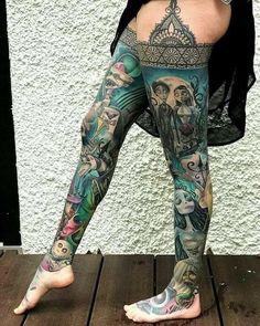Tim Burton leg sleeve { by Julian Meyer.siebert } swipe to see more Source by Our Reader Score[Total: 0 Average: Related Ideas… Half Sleeve Tattoos Mermaid, Butterfly Sleeve Tattoo, Unique Half Sleeve Tattoos, Full Leg Tattoos, Skull Sleeve Tattoos, Forearm Sleeve Tattoos, Girls With Sleeve Tattoos, Japanese Sleeve Tattoos, Best Sleeve Tattoos