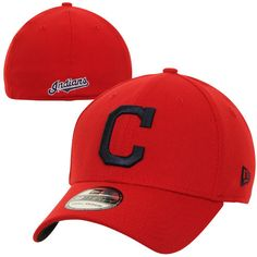 New Era Cleveland Indians MLB Team Classic 39THIRTY Flex Hat - Red 76062169d56