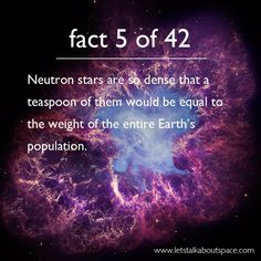 42 Facts About Space, A Homage to Douglas Adams ~Click on the open pin and read all 42 fantastic facts.