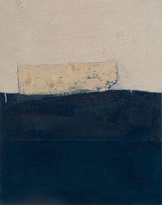 """Space"" by Kinuko Imai Hoffman - acrylic, paper and pumice on canvas"