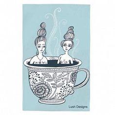 Lush Designs | Tea Cup Ladies Tea Towel | £11 (incl. p&p)