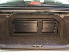 amp rack mount between back seat and trunk Custom Car Audio, Custom Cars, Subwoofer Box, Car Mount, Back Seat, Phone Holder, Keep It Cleaner, Samsung, Knock Knock