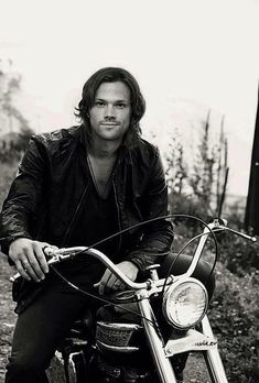 Jared Padalecki - on a motorcyle - in a leather jacket.  You're welcome.