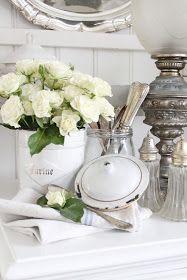 Collected Silver - via VIBEKE DESIGN: Romantic corner...