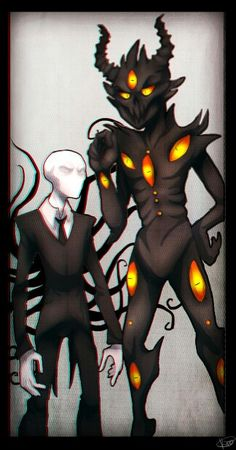 Slender and Zalgo.... And I thought that Slender was the tall one!