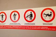 Tram Warning Signage in Switzerland