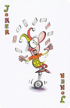 Joker of the Day Joker Playing Card, Joker Card, Playing Cards, French Flowers, House Of Cards, Jokers, Tarot Cards, Day, Blog
