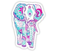 Cute Lilly Pulitzer Elephant Sticker