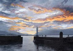 Sunset Newhaven, copyright David Blakeley