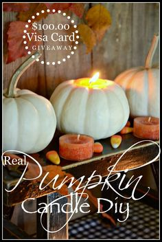 PUMPKIN CANDLE DIY AND $100.00 VISAL GIFT CARD GIVEAWAY- An easy to make way to decorate for fall and Halloween-stonegableblog.com