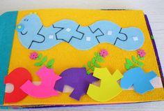 Quiet book / activity book, made of felt and foam.