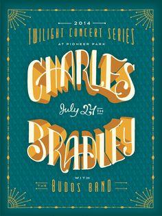 Charles Bradley // Gig Poster // Courtney Blair