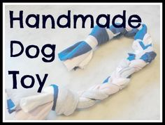 Handmade dog toy - kid braided t-shirt toy