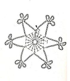 U Kathryn: Crochet snowflakes -patterns Crochet Snowflake Pattern, Crochet Motif Patterns, Crochet Snowflakes, Crochet Diagram, Crochet Doilies, Crochet Flowers, Crochet Angels, Crochet Stars, Thread Crochet