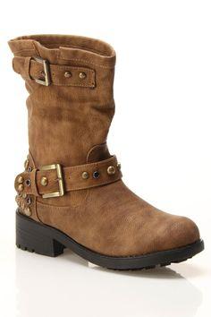 Sandra Studded Boots