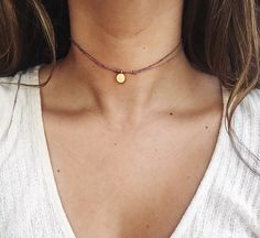 •••Our tiny vermeil gold coin choker is a must have! Pair it with a graphic tee for a edgy casual look or layer it with longer necklaces to look extra stylish•••  Made with waxed silk cord Turkish Coin is vermeil gold and will not fade in color Necklace is 13 in length and closes with beaded knot and loop ( see pictures )  If you want the necklace to be made shorter or longer feel free to leave me a message @ checkout :)  --handmade