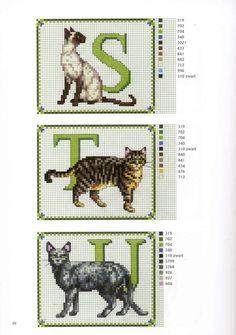 Katten borduren met francien (вышитые кошечки).. Обсуждение на LiveInternet - Российский Сервис Онлайн-Дневников