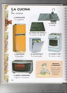 Learning Italian Language ~ The Kitchen italiano