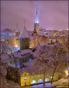 I want to go to Tallinn, Estonia!  I'd love to go in December some year - apparently it's beautiful, especially Christmas markets. (I love Christmas...)