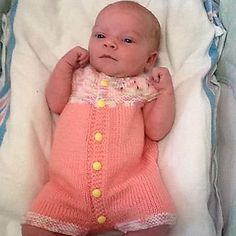 Ravelry: Marianna's All-in-One Romper Suit pattern by marianna mel Baby Romper Pattern, Baby Sweater Knitting Pattern, Baby Knitting Patterns, Baby Patterns, Knitting For Charity, Knitting For Kids, Free Knitting, Doll Clothes Patterns, Clothing Patterns