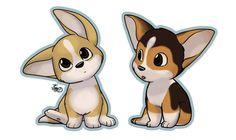 Corgi puppies by mewgal.deviantart.com on @deviantART