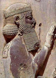 Darius the King in Behistun Persian Ruins, Iran. Darius ruled the Persian Empire from 521 to 486 B.C.E He is shown here on his throne in Persepolis, a new capital city that he built.