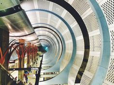 Gorgeous shot of an underground station in LA