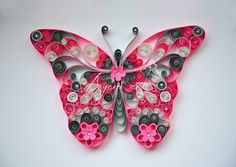 Quilling Pink Butterfly Tutorial