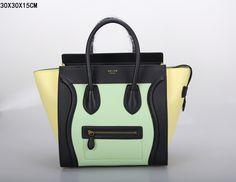 SAC CELINE LUGGAGE MINI CHAUX / NOIR / JAUNE 1.Marque  : celine 2.Style  : celine Luggage Mini 3.couleurs :  Chaux / noir / jaune 4.Matériel : Importer en cuir d'origine 5.Taille: W30 x H15 x D30 cm Celine Luggage, Luggage Bags, Tote Handbags, Mini, Purses And Bags, Clutches, Totes, Style, Celine Bag