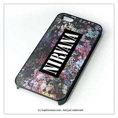 Nirvana On Floral Art, Kurt Cobain, Dave Grohl iPhone 4 4S 5 5S 5C 6 6 Plus , iPod 4 5 , Samsung Galaxy S3 S4 S5 Note 3 Note 4 , HTC One X M7 M8 Case