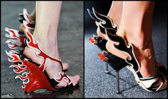 Prada flame shoes