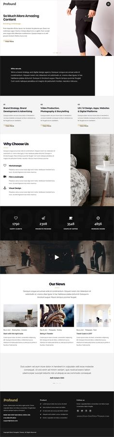Profound is clean and modern design responsive #WordPress theme for creative #agency and #freelancer website with 10 unique homepage layouts download now..