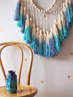 ouch flower: How to Dip Dye your Macrame and Tassels, sucessful...