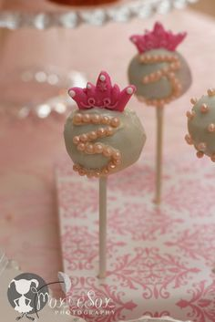 "Princess Cakepops Birthday Party / Tea Party ""A Pink & Yellow Princess Tea Party"" Princess Cake Pops, Princess Tea Party, Princess Birthday, Girl Birthday, Princess Wands, Princess Tiara, Princess Theme, Sofia The First Birthday Party, Birthday Parties"