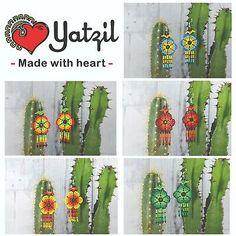 Cacti, Cactus Plants, Peyote Patterns, Czech Glass Beads, Beaded Flowers, Flower Earrings, Artisan Jewelry, Watches, Ebay