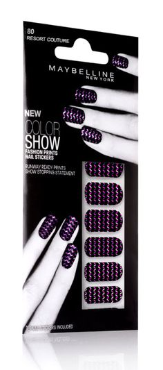 Color Show Fashion Print Nail Stickers