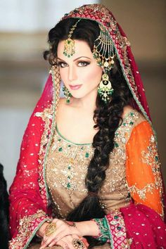 a Bridal shoot - pakistani fashion