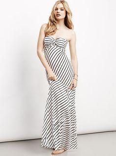 Victoria's Secret black and white striped Maxi dress