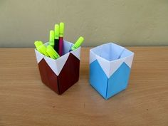 "Origami / Craft tutorial to make ""Hexagonal Pen 