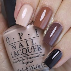 All polishes are @opi_products from the #opiwashingtondc Collection for Fall 2016. Starting with pointer finger - Pale to the Chief, inside the Isabelletway, Squeaker of the House and Shh...It's Top Secret.