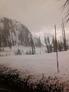 Snow on the pass by Mt. Hood
