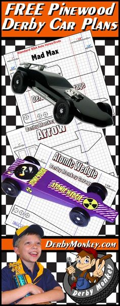 FREE Pinewood Derby Car Plans, Designs and Templates   www - free pinewood derby car templates download