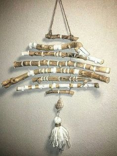 Byher Natural Driftwood Branches Wall Hanging Jewelry Organizers with Driftwood For Sale, Driftwood Wreath, Driftwood Wall Art, Driftwood Projects, Painted Driftwood, Driftwood Mobile, Hanging Jewelry Organizer, Jewelry Organization, Deco Nature