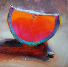 Paintings by Elena Katsyura: Rainbow Grapefruit
