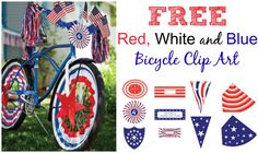 4th Of July Parade, Fourth Of July Decor, 4th Of July Celebration, 4th Of July Decorations, July 4th, Bike Decorations, Bike Parade, Bicycle Decor, Blue Crafts
