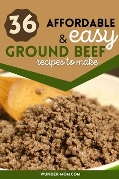ground beef recipes, try one of these dinner ideas, easy dinners with ground beef Frugal Meals, Cheap Meals, Easy Dinners, Budget Meals, Quick Meals, Easy Dinner Recipes, Kids Meals, Dinner Ideas, Dinner With Ground Beef