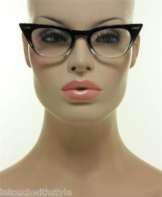 17e6906312d7 New Black And Clear Frame Retro Trendy Cateye Women s Vintage Style  Eyeglasses