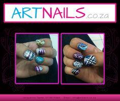 custom acrylic designer glitter nail art with cool shaped nails Acrylic Nail Art, Glitter Nail Art, Class Ring, Acrylics